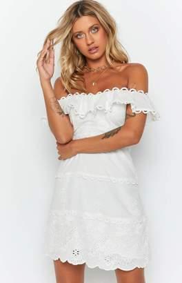 Beginning Boutique Caudalie Lace Dress White