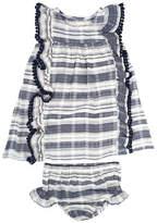 Jessica Simpson Two-Piece Slub Stripe Dress Set