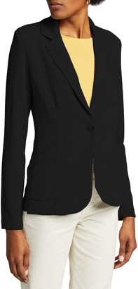 Majestic Filatures French Terry One-Button Blazer