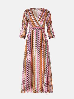 Diane von Furstenberg Bree Chiffon Belted Midi Dress