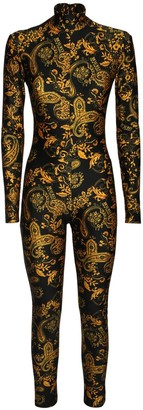 Versace Jeans Couture Printed Stretch Jersey Jumpsuit