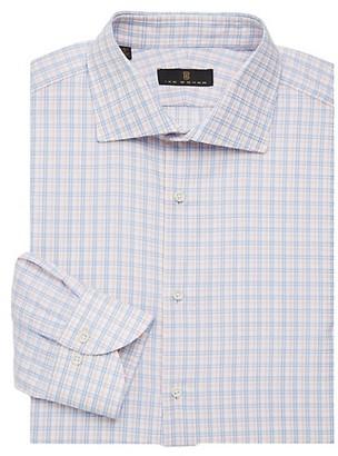 Ike Behar Regular-Fit Check Button Front Dress Shirt