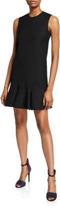 Victoria Victoria Beckham Sleeveless Flounce-Hem Shift Dress