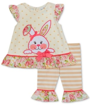 Rare Editions Baby Girls 2-Pc. Bunny Applique Tunic & Leggings Set