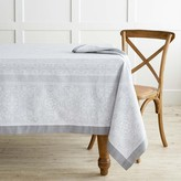 Snowflake Jacquard Tablecloth, Silver