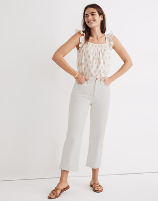 Madewell Slim Wide-Leg Jeans in Cloud Lining