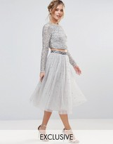 Maya Tulle Midi Skirt With Delicate Sequin