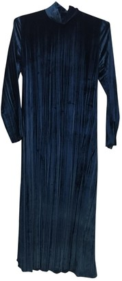Masscob Blue Velvet Dress for Women