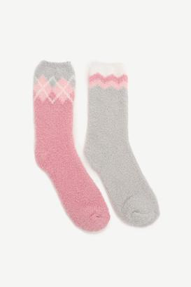 Ardene Cozy Argyle Socks