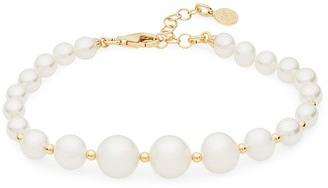 Majorica Sterling Silver & Organic Man-Made Pearl Bracelet