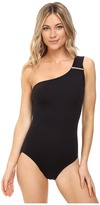 MICHAEL Michael Kors Villa Del Mar Logo Bar One-Shoulder One-Piece