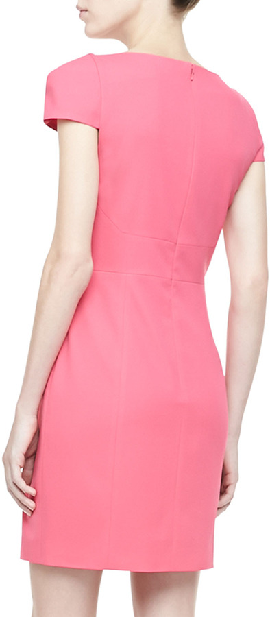 4.collective Cap-Sleeve Shift Dress