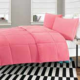 Bed Bath & Beyond Microfiber-to-Plush Reversible 2-Piece Twin XL Comforter Set in Pink