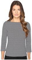 Kate Spade 3/4 Sleeve Stripe Everyday Tee Women's T Shirt