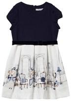 Mayoral Navy Jersey Printed Skirt Dress