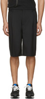Givenchy Black Pleated Shorts