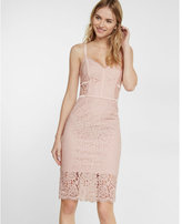 Express piped lace dress