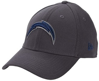 New Era NFL Stretch Fit Graphite 3930 -- Los Angeles Chargers (Graphite) Baseball Caps