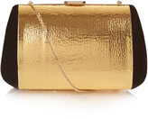 Nina Ricci Merion suede and leather clutch bag