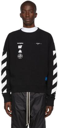 Off-White Black and White Oversized Diag Mariana de Silva Sweatshirt