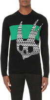 McQ by Alexander McQueen Swallow print wool jumper