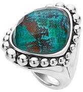 Lagos Silver Maya North-South Dome Ring