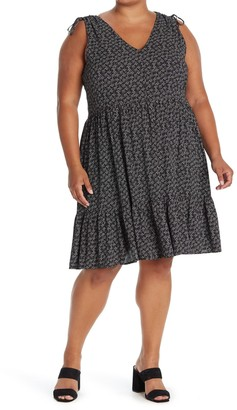 Caslon V-Neck Print Tank Dress