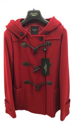 Max Mara Weekend Red Wool Coats