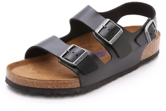 Birkenstock Amalfi Leather Soft Footbed Milano Sandals