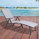 Pool' Ebern Designs Capavella Beach Yard Pool Adjustable Reclining Chaise Lounge Ebern Designs Color: Light Gray