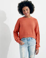 Hollister Cable Crop Crewneck Sweater