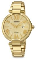 Seiko Ladies' 32.5mm Solar Watch in Goldtone Stainless Steel