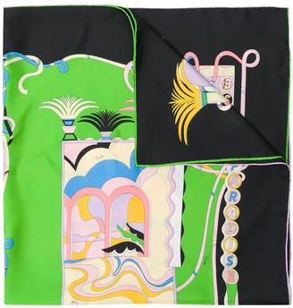 Emilio Pucci La Villa-Print silk-twill scarf