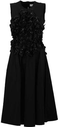 MONCLER GENIUS Moncler X Noir Kei Ninomiya Rouched Motif Flared Dress