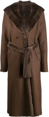 Liska Fur-Trimmed Trench Coat