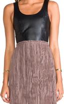 Blaque Label Leather Detailed Backless Dress