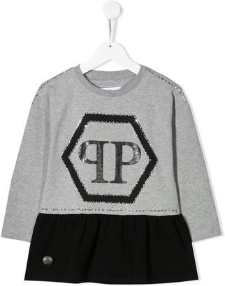 Philipp Plein Junior Logo Print Dress