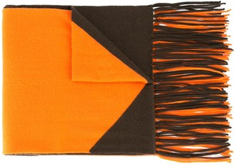 Hermes 1986 Pre-Owned Fringed Scarf