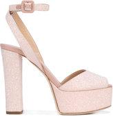 Giuseppe Zanotti Design slingback platform sandals - women - Leather/PVC - 35