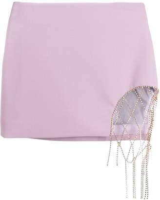 Area diamanté chain mini-skirt