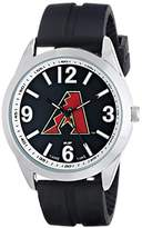 Game Time Men's MLB-VAR-ARI Varsity Analog Display Japanese Quartz Black Watch