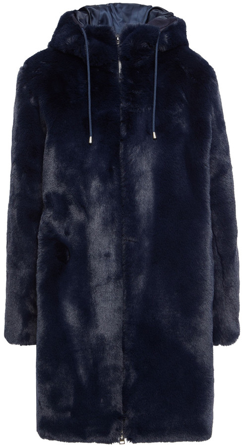 Maje Faux Fur Hooded Coat