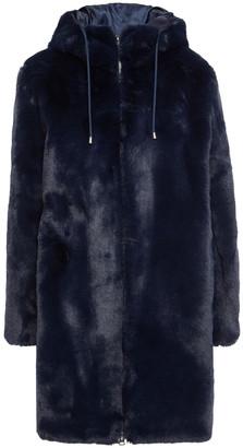 Maje Faux Fur Hooded Coat