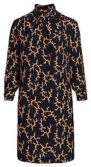 Baacal, Plus Size Women's Thorn-Print Scarf-Neck Silk Dress