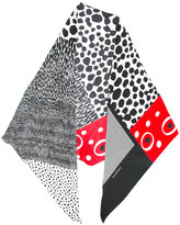 Pierre Louis Mascia Pierre-Louis Mascia - spots and stripes scarf - women - Silk - One Size
