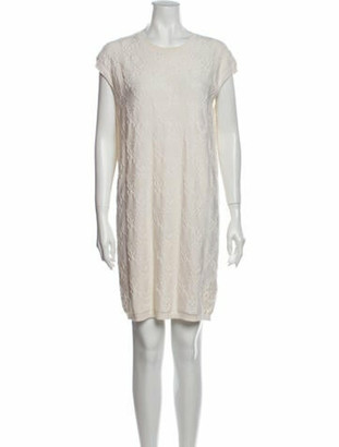 Hermes Silk Mini Dress White