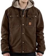 Carhartt Sandstone Hooded Multi-Pocket Jacket - Sherpa Lined (For Big Men)