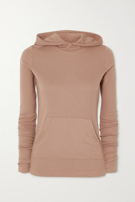 Commando Luxury Ribbed Stretch Modal And Pima Cotton-blend Hoodie - Neutral