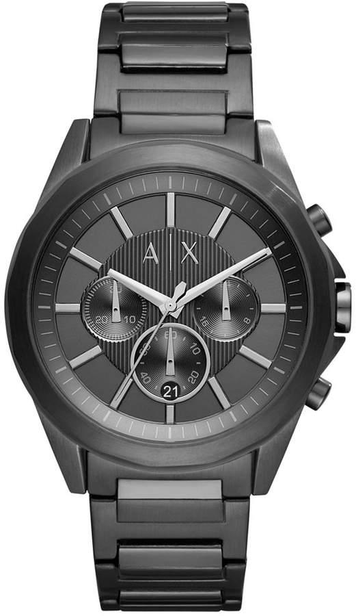 Armani Exchange Men's Chronograph Black Stainless Steel Bracelet Watch 44mm AX2601