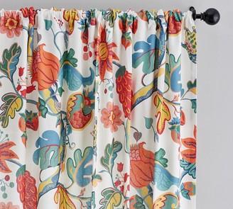 Pottery Barn Serafina Print Linen/Cotton Rod Pocket Curtain